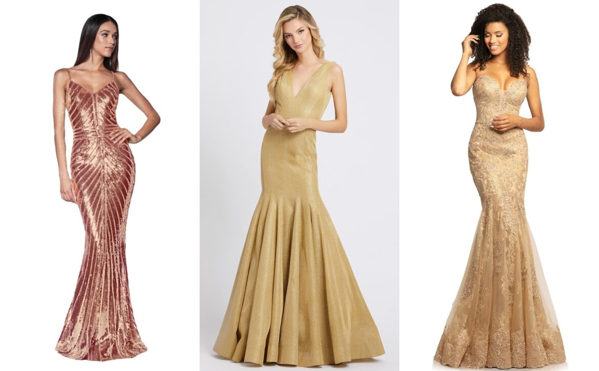 Live In The Moments Of Glamour And Shine | Trendy Gold Dresses in 2020